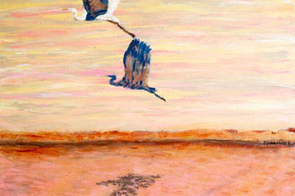 24x24 Acrylic on canvas LuxBronze Frame