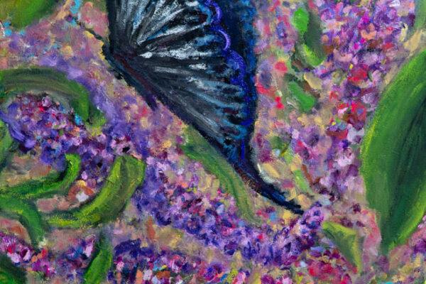 24x36 Oil and Acrylic on Canvas Walnut Box Frame