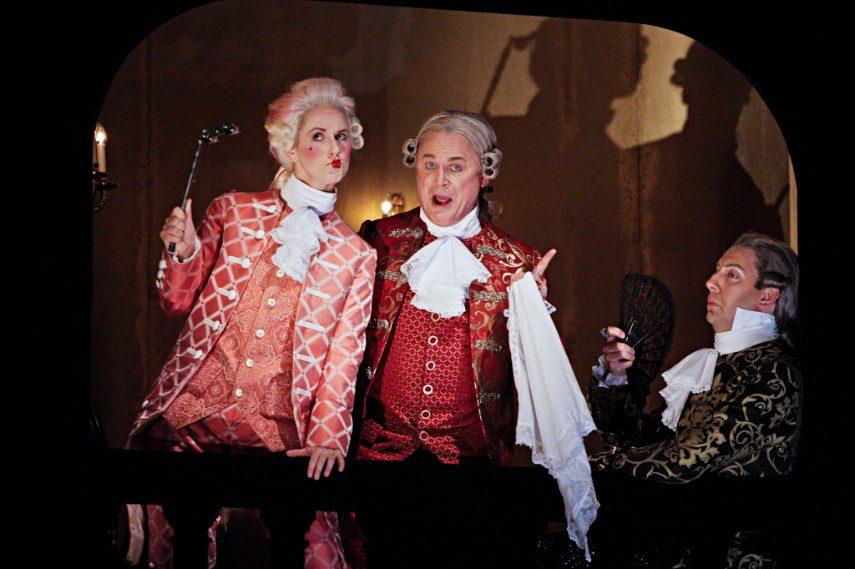 Angela Keeton staring as Gianpaulo in The Minnesota Opera's production of <em>Casanova's Homecoming!</em>