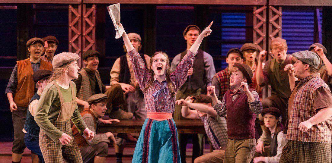 Anna Nisbett starring as Katherine Plummer in <em>Newsies</em> for Fine Linen Theatre Company!