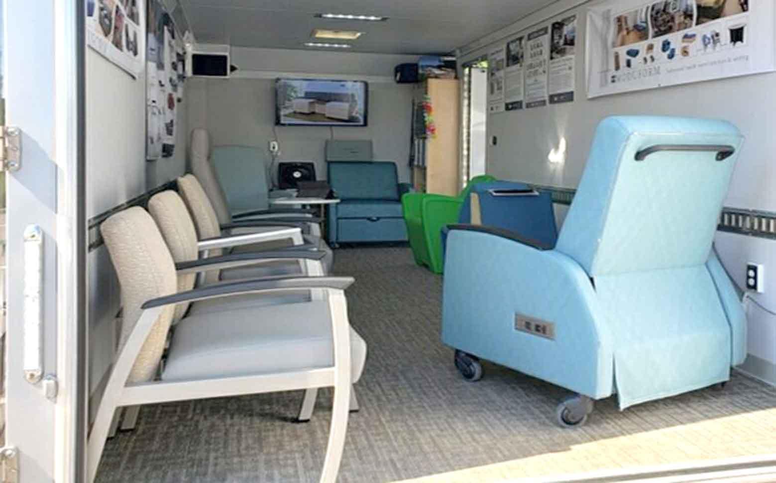 institutional furniture mobile showroom