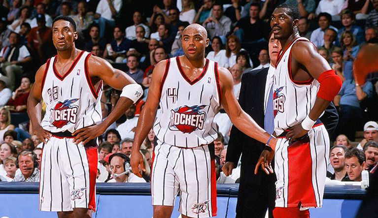 """HOUSTON ROCKETS' 1996 SQUAD IS """"A SUPER TEAM,"""" CONTRARY TO CHARLES BARKLEY'S BELIEF, SAYS CLYDE DREXLER"""