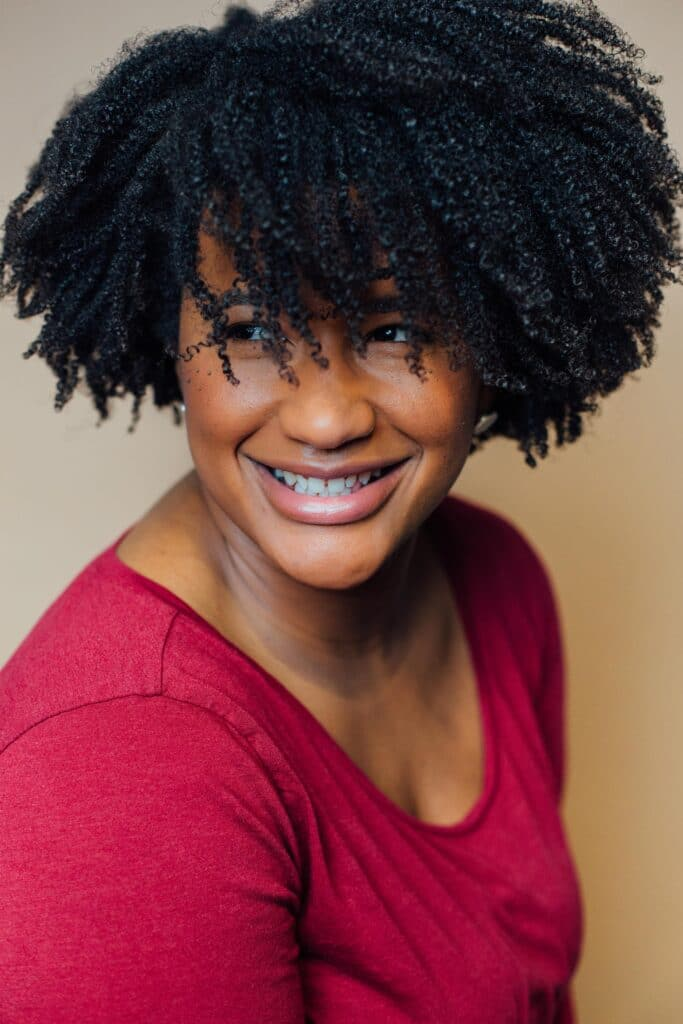 Headshot of CurlMix® co-founder, Kim Lewis, used for ZoraTalks episode