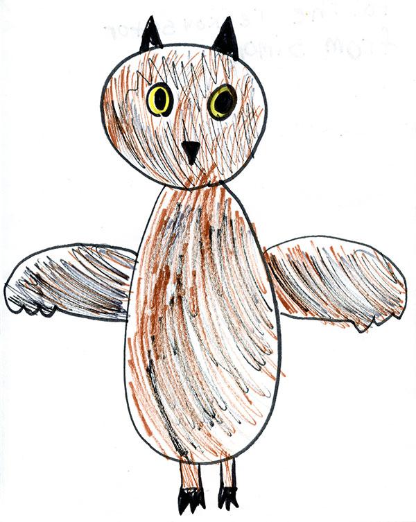 Big Owl by Simone