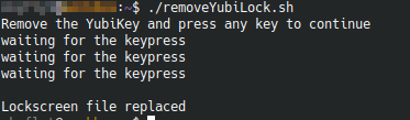Yubikey Lock PC and Close terminal sessions when removed