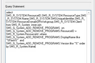 Create an SCCM Collection based on software installed