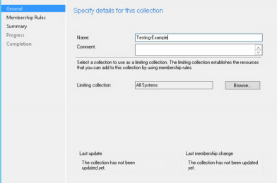Create a SCCM Device Collection