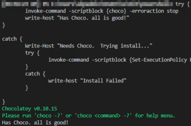 SCCM Script – Choco Checker (check for and install chocolatey)