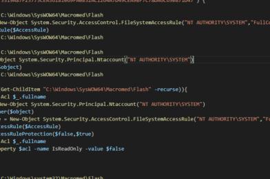 SCCM Script – Force Remove Flash