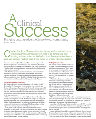 A Clinical Success, Bringing cutting-edge medicine to our community