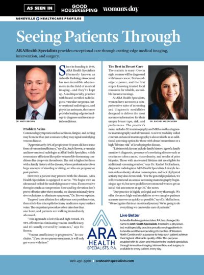 Seeing Patients Through, image of Asheville Healthcare Profiles article