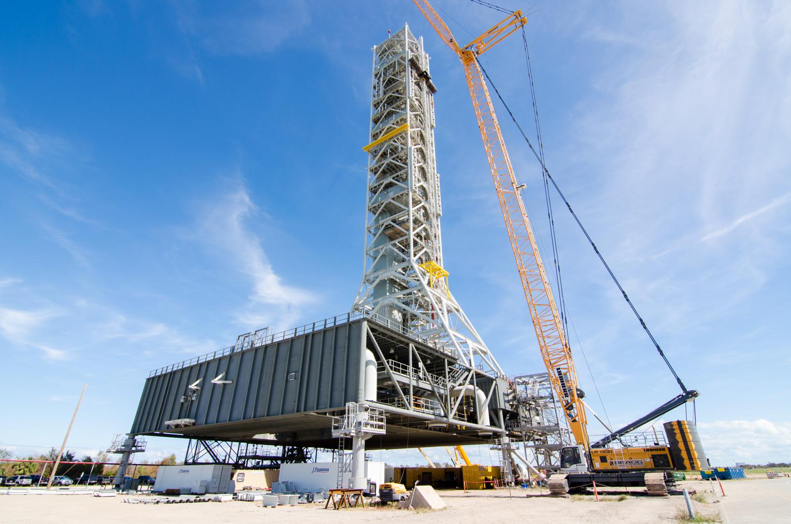 GSDO Mobile Launcher Ground Support Equipment Installation