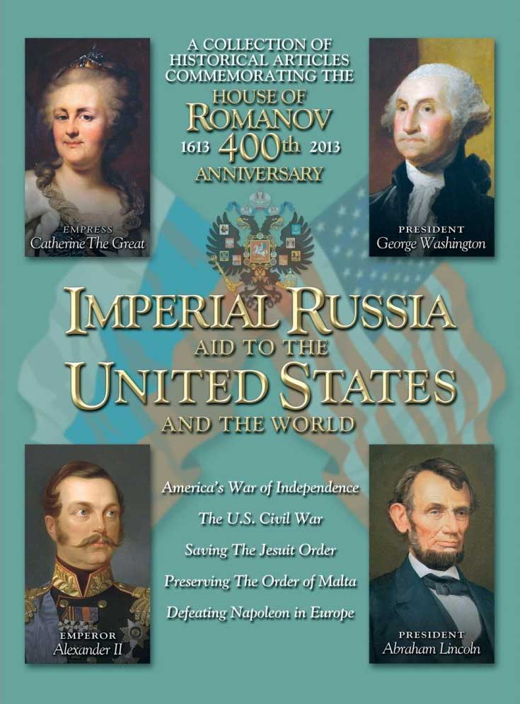 Cover image featuring Catherine the Great, George Washington, Emperor Alexander II and Abraham Lincoln