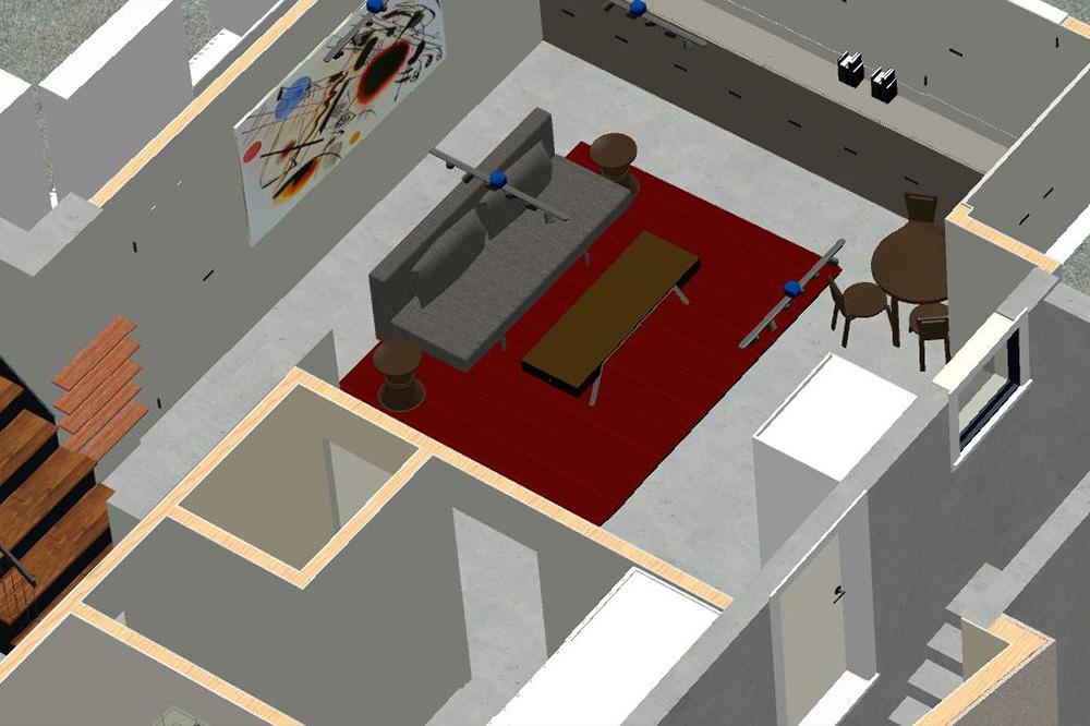 Digital design of bedroom