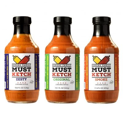 Somers Family MustKetch – Original, Smoke, Zesty Flavor Options – A new twist on Mustard and Ketchup! All-Natural, Non-GMO Ingredients – No Artificial Flavors or Colors – No High-Fructose Corn Syrup – Gluten-Free