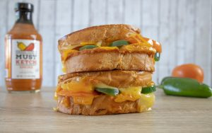 Mustketch Loaded Grilled Cheese
