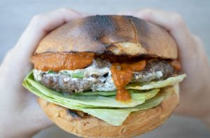 Mustketch Herb Stuffed Burger
