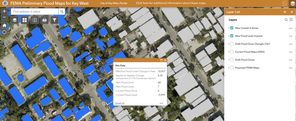 FEMA Preliminary Flood Maps for Key West