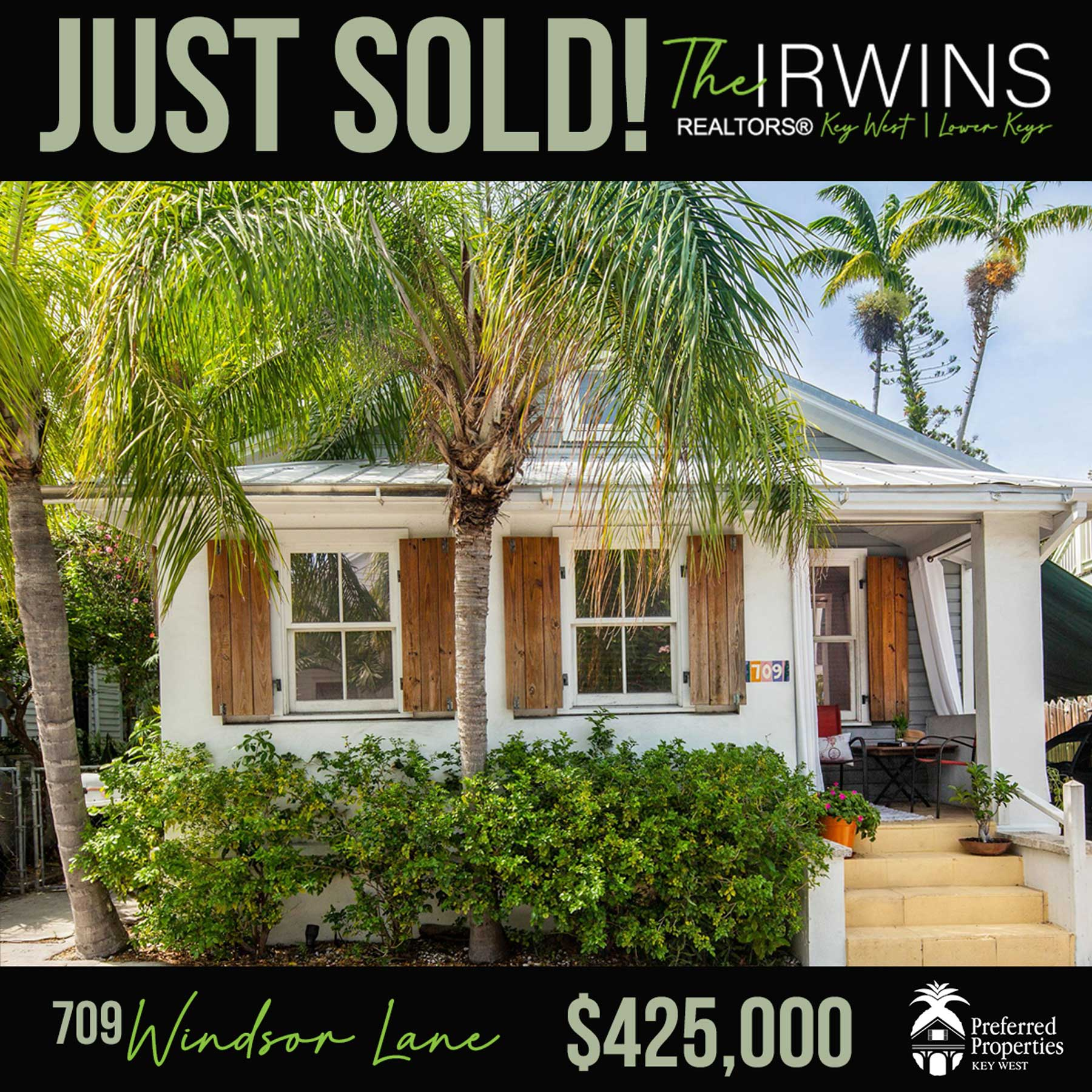 Just Sold By The Irwins
