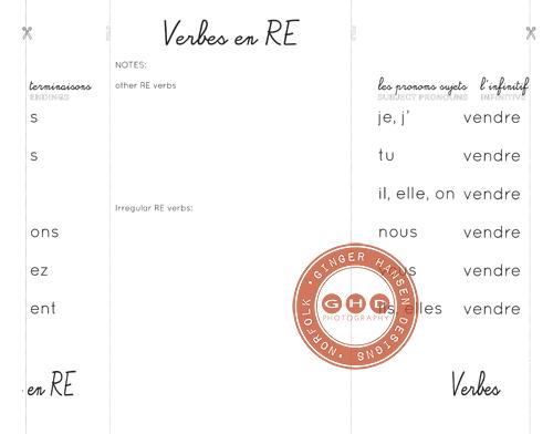 foldable: verbes en RE