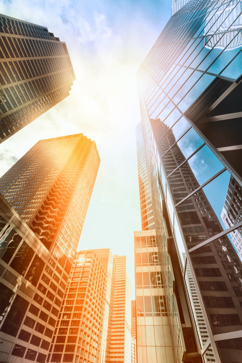 Buildings in the sunlight