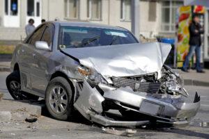 Traffic accident. Car crash