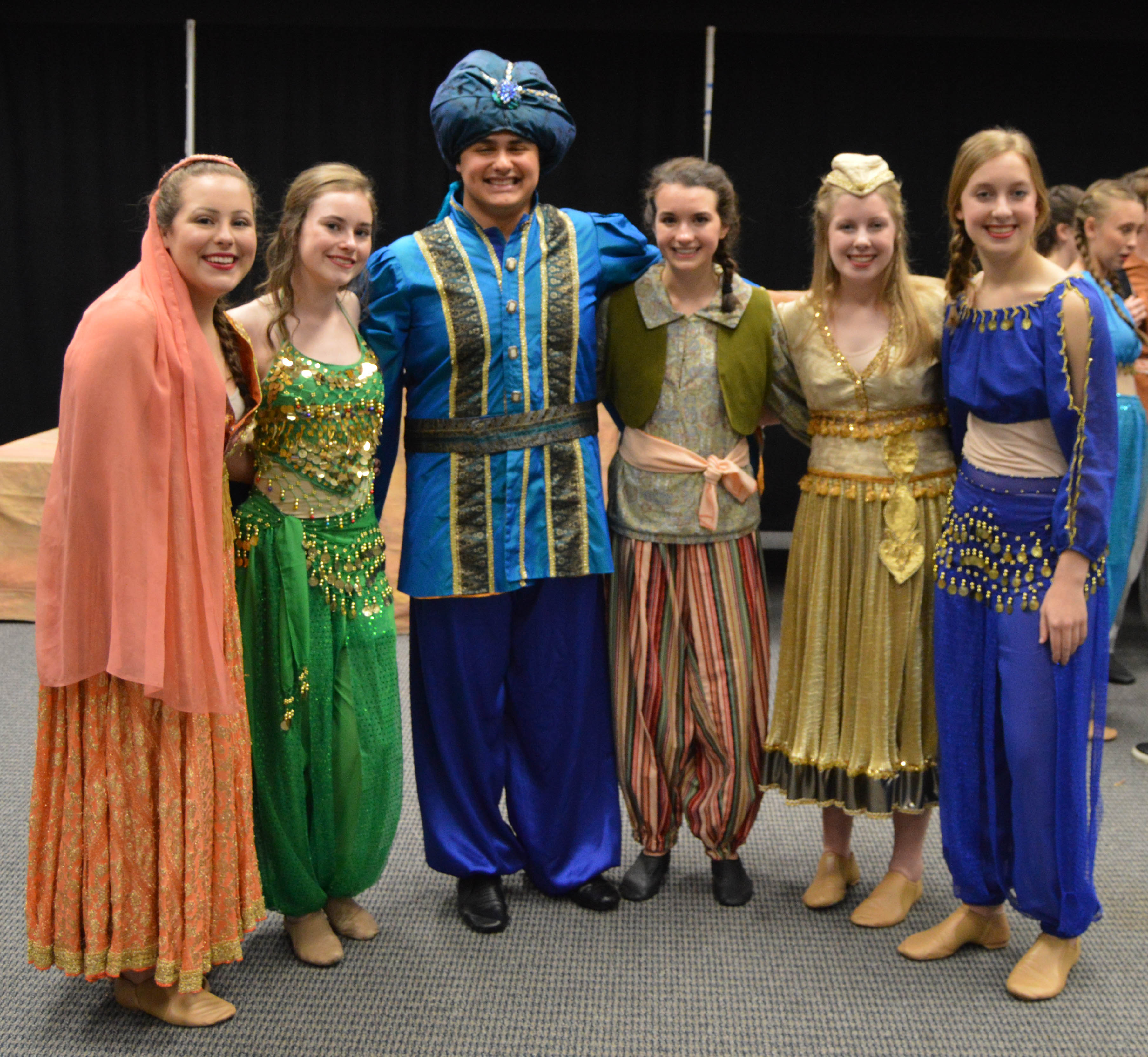group of student actors in costume