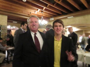Aaron with Chris Kennedy