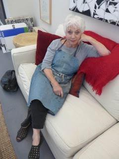 Judith Foosaner in her studio