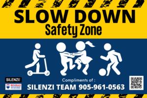 Silenzi Team Free Community Safety Zone Signs