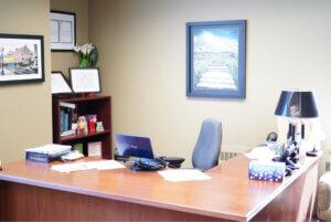 remote healthcare desk office nurses RN telehealth company lamp framed art