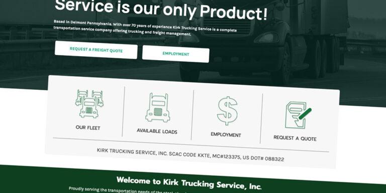 Custom Website for Kirk Trucking