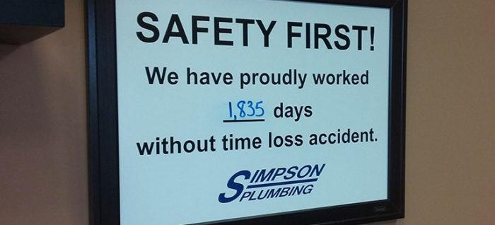 Five Year Safety Award