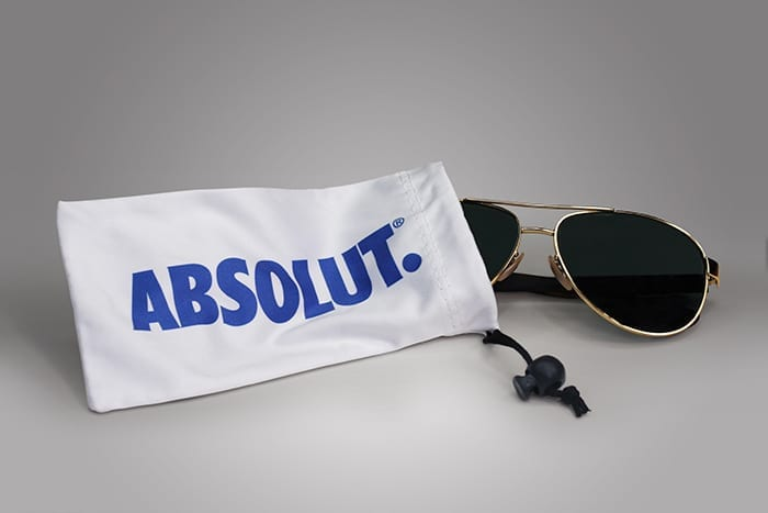 A custom pouch presents numerous opportunities for your brand, whether it serves as packaging, promotional material, or both, PPD&G can help bring your vision for it to life, much like this dye sublimated pouch that doubles as a case for sunglasses.