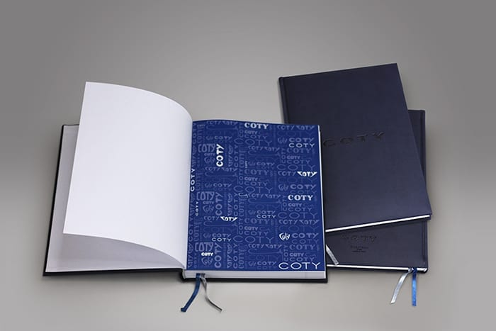 Showcase your brand, logo or design, by using PPD&G to create custom notebooks. Perfect as promotional materials, or just for office use, we can help you personalize any type of stationery to fit your brand, like this embossed leather notebook.