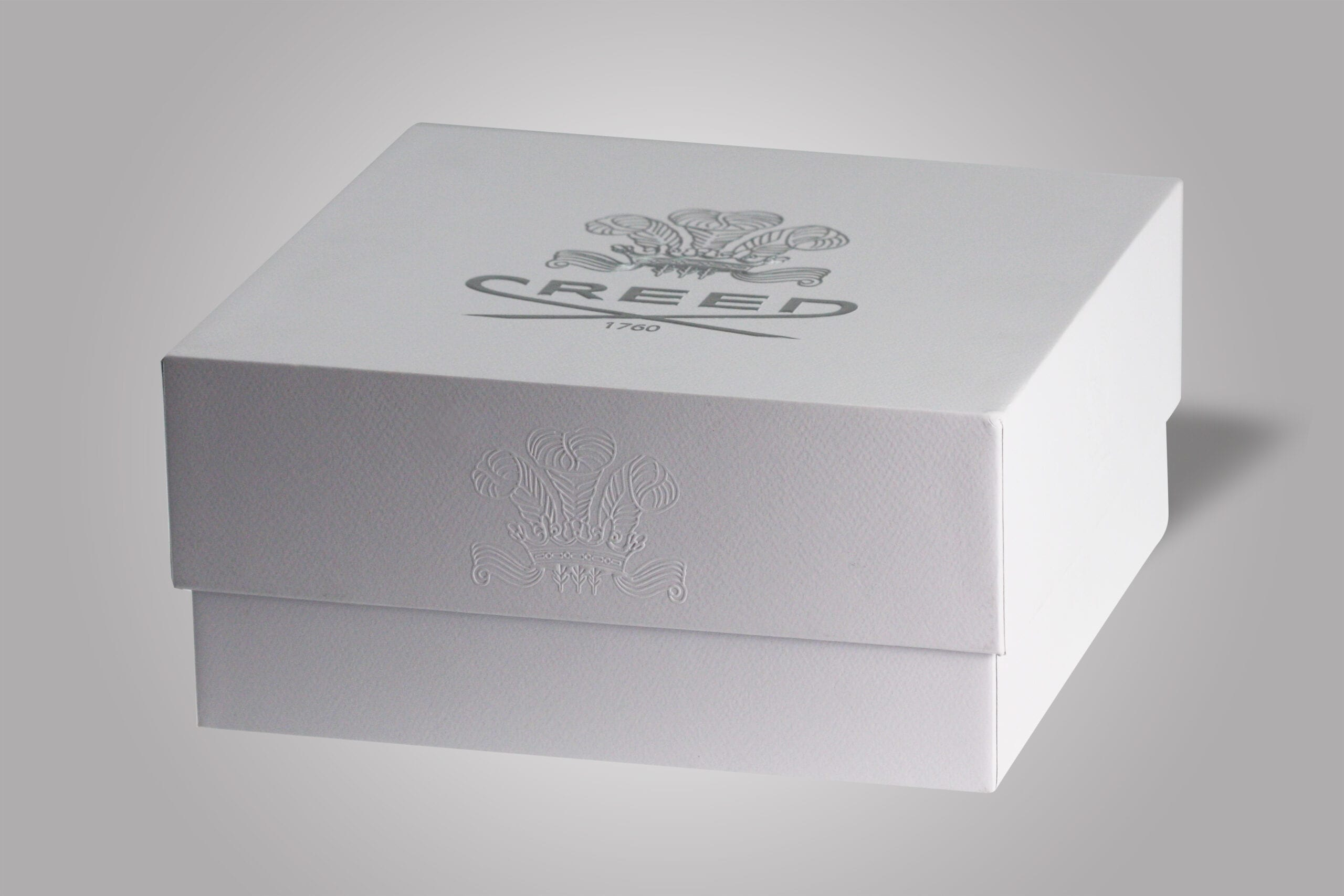 At PPD&G, we utilize numerous finishing methods to create the perfect custom packaging, and this custom rigid setup box exemplifies that, featuring an embossed logo on the front, as well as a silver logo on top that helps to present a high end feel for customers.
