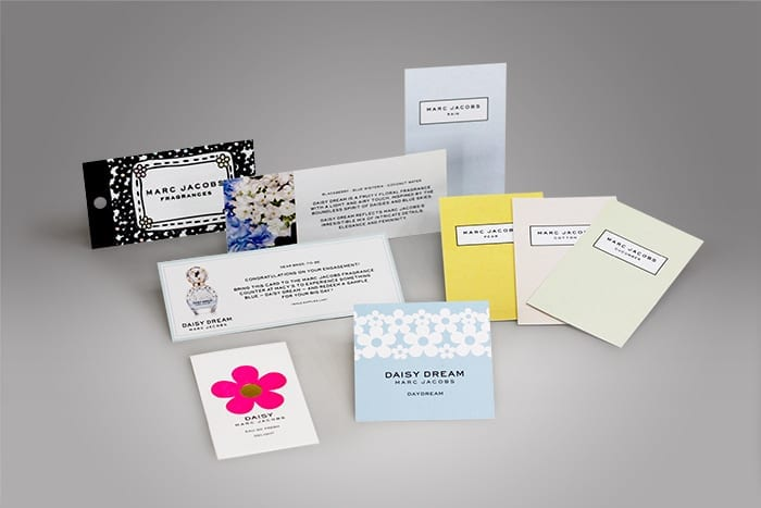 Custom hang tags and branded product cards allow potential customers to receive any message you wish to convey as they hold your product in their hands or while studying your product where it is on display.