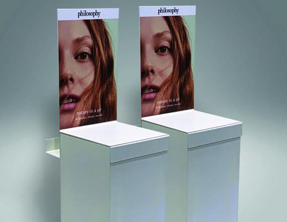 Point of Purchase Display Featuring Full Color Graphic Panel