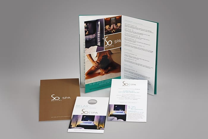 Custom printed menus are the perfect way to display what your business offers, we can create numerous custom printed materials to further your business, including custom branded door hangers, and full color printed promotional materials.