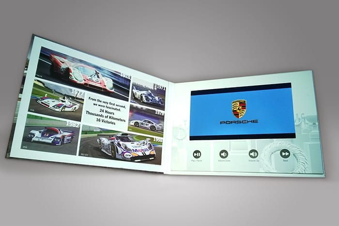 A custom display featuring video technology can command attention while staying up to date with your branding strategy, whatever you chose to display can leave a lasting impression with future and existing customers and clients, like this custom designed video booklet.