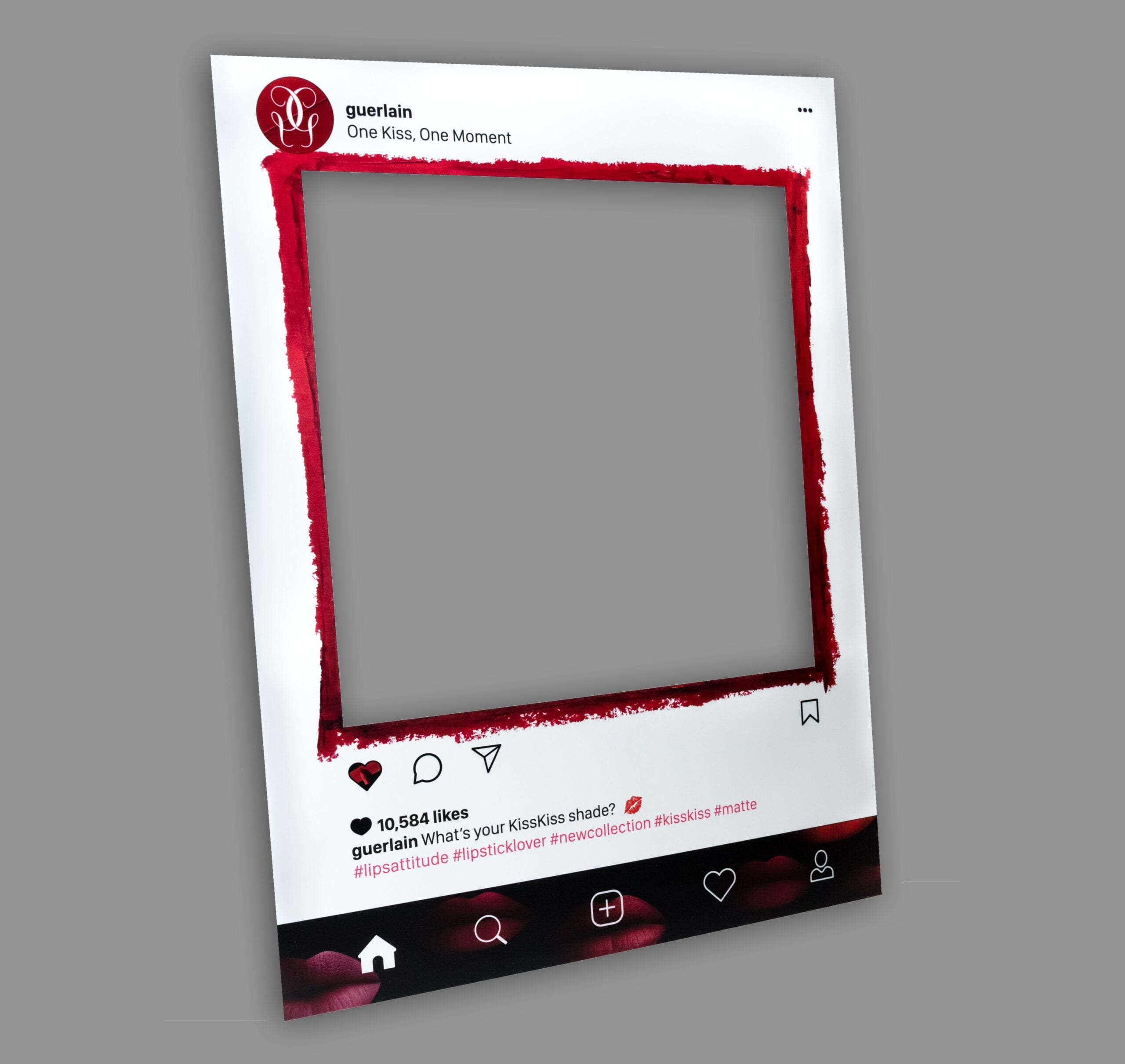 A custom Instagram frame poster is a great marketing tool for any event, by placing your logo, design, or brand name on a custom printed selfie frame, a simple photo opportunity for guests transforms into social media marketing for your brand.