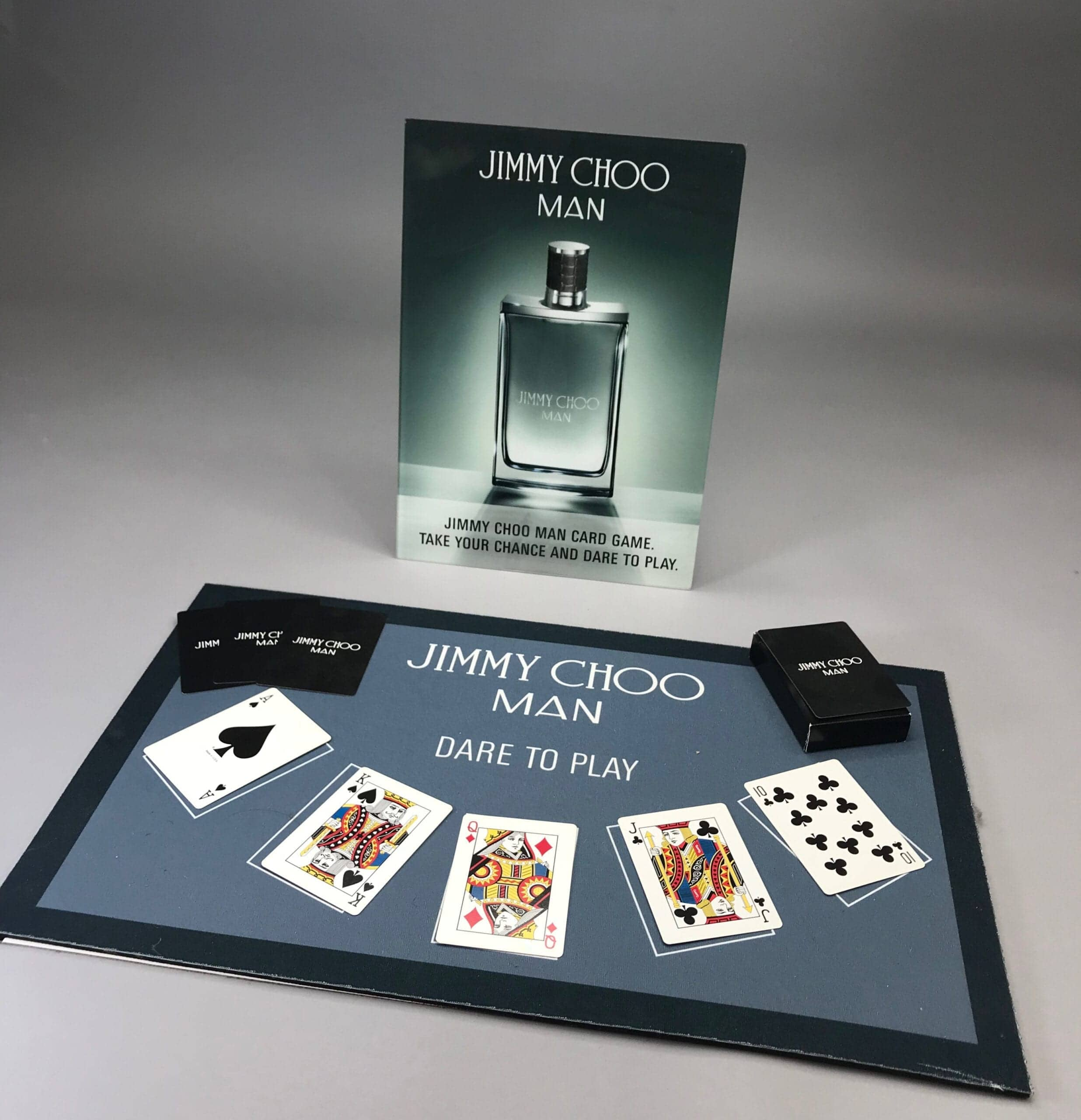 At PPD&G we understand the importance of thinking outside the box and this unique display is no exception. Featuring custom-made trays, custom branded playing cards and a custom acrylic easel back display our high quality manufacturing brought the vision to life.