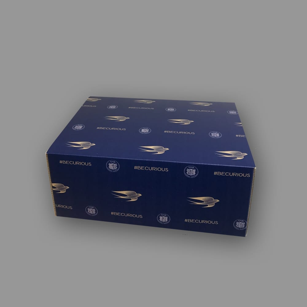Custom folding boxes can highlight your brand in a professional way with every order you sell, ship or hand out. No matter what you need to package, our high quality manufacturing capabilities, can bring it to life, like this custom designed folding box.