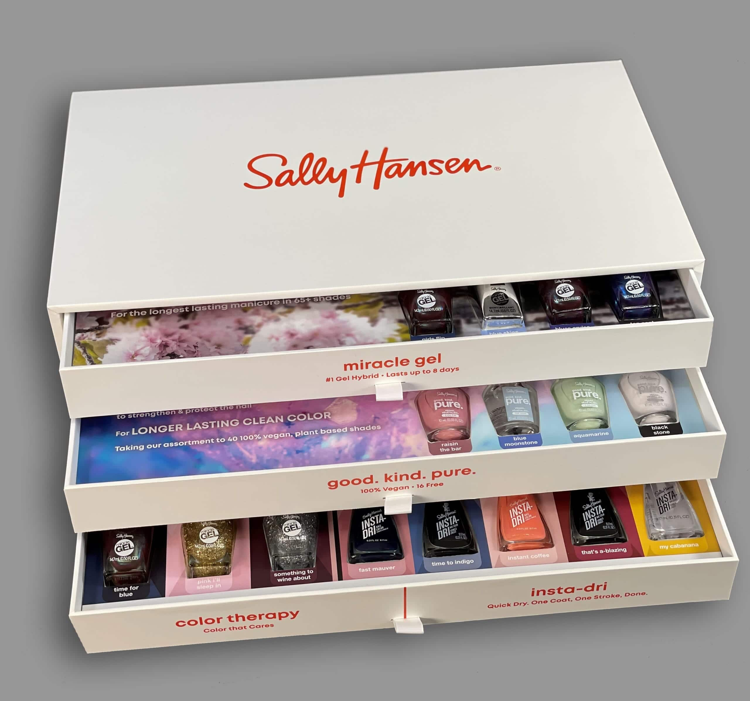 Influencer boxes are an effective way to promote your brand and product and this custom rigid box featuring sliding trays and a foil stamp is just the start of what we can do here at PPD&G.