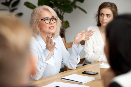 Older women in leadership