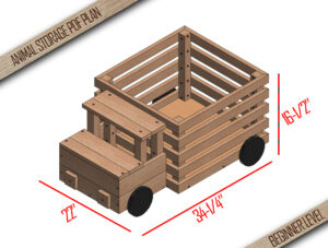 Diy Toy Storage Plan- Wooden Toy Box - Truck Toy Storage - Toy Basket