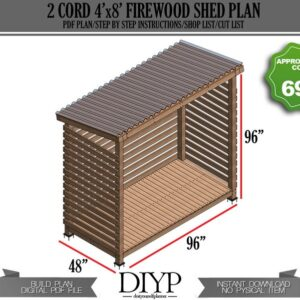 4x8 shed plans