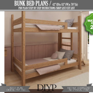 DIY Bunk Bed Plan , Twin size bunk bed, Toddler bed frame, kids furniture plans, build your own bunk bed Diy bunk bed plan,Twin size bun bed,Toddler bed frame,Kids furniture plan,Bunk bed plans,Twin size toddler bed,DIY Twin Beds Plan,PDF plan Kids,Platform Bed Plan,Loft Bed Plan,DIY Wooden Bed,Toddler Bed,Nursery bed plan,Kids bed plan