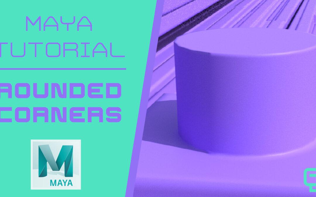 Create Rounded Corners in Maya