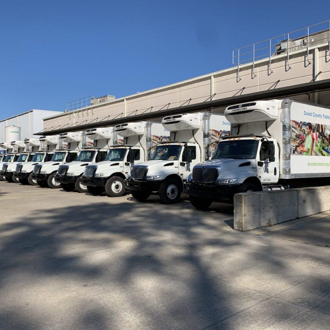 Duval school food delivery truck fleet
